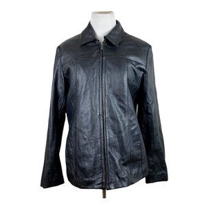 Wilson Leather Jacket Black Thinsulate Lined Coat